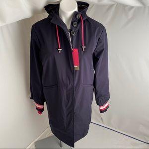 2Shirts Ago navy/hot pink lightweight rain coat L
